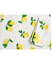 kate spade new york Make Lemonade Table Linens Collection Napkin