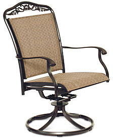 Beachmont II Outdoor Dining Sling Swivel Rocker, Created for Macy's