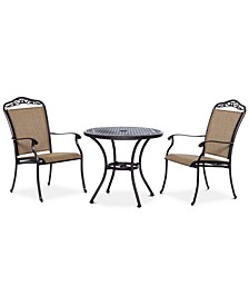 """Beachmont II Outdoor 3-Pc. Dining Set (32"""" Round Bistro Table and 2 Dining Chairs), Created for Macy's"""