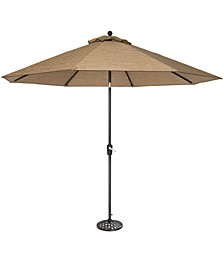 Beachmont II Outdoor 11' Umbrella & Base
