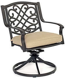 Park Gate Cast Aluminum Outdoor Dining Swivel Rocker, Created for Macy's