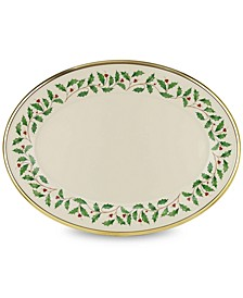 Holiday Oval Serving Platter