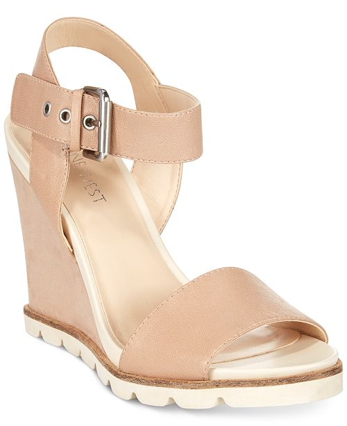 c092901b3db Nine West Gronigen Wedge Sandals   Reviews - Sandals   Flip ...