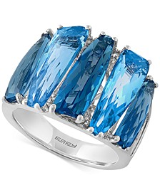 EFFY® Blue Topaz (8-7/8 ct. t.w.) and Diamond Accent Ring in 14k White Gold