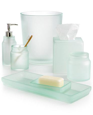 Martha stewart collection sea glass frost bath accessories for Sea bathroom accessories