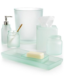 Bathroom Accessories And Sets Macys - Silver crackle glass bathroom accessories
