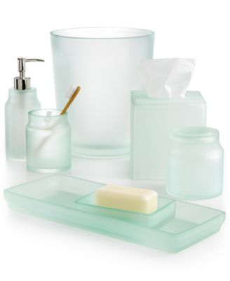 Martha Stewart Collection Sea Glass Frost Bath Accessories, Only at Macyu0027s
