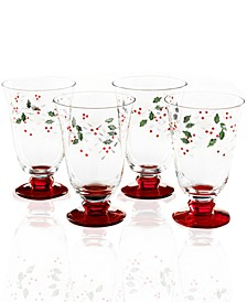 Winterberry Water Goblet, Set of 4