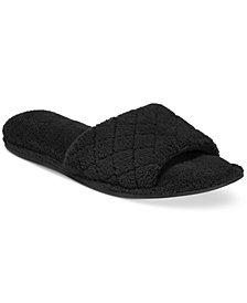 Charter Club Open-Toe Memory Foam Scuff Slippers, Created for Macy's