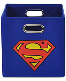 Modern Littles Superman Logo Folding Storage Bin
