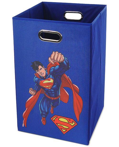 Modern Littles Superman Folding Laundry Basket