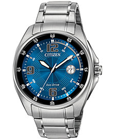 Citizen Men's Eco-Drive Stainless Steel Bracelet Watch 42mm AW1510-54L