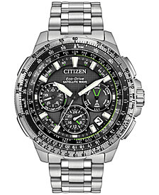 Citizen Men's Chronograph Eco-Drive Stainless Steel Bracelet Watch 47mm CC9030-51E