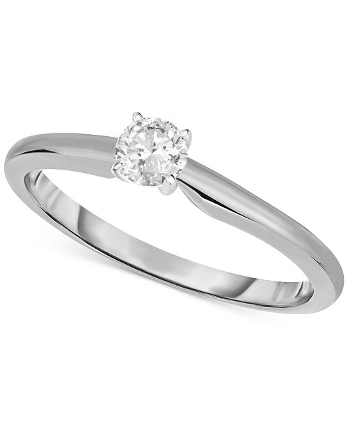 Macy's Engagement Ring, Certified Diamond (1/3 ct. t.w.) and 14k White or Yellow Gold