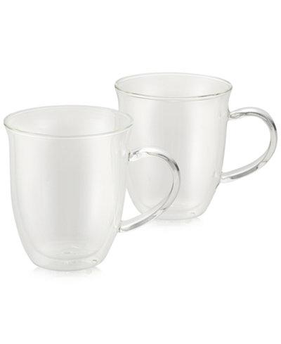 BonJour 2-Pc. Glass Espresso Cup Set