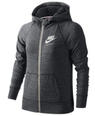 Nike Sportswear Gym Vintage Full,Zip Hoodie, Big Girls