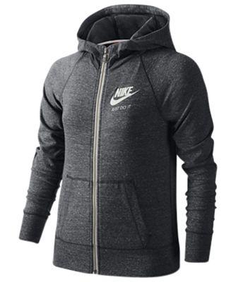 Nike Gym Vintage Full-Zip Hoodie, Big Girls (7-16)