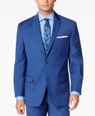 Sean John Men's Medium Blue Classic-Fit Jacket - Suits & Suit ...