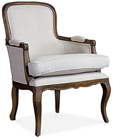 Layland Traditional French Accent Chair, Quick Ship