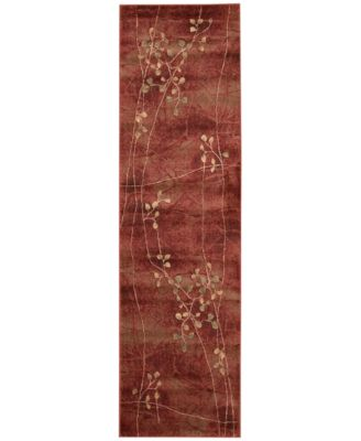 "CLOSEOUT! Somerset Flame Blossom 2' x 5'9"" Runner Rug"