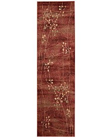 """CLOSEOUT! Somerset Flame Blossom 2'3"""" x 8' Runner Rug"""