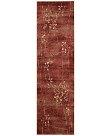 "CLOSEOUT! Nourison Somerset Flame Blossom 2'3"" x 8' Runner Rug"