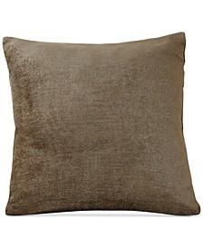 "Victoria Soild Velvet 18"" Square Decorative Pillow"