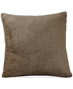 """Elrene Victoria Soild Velvet 18"""" Square Decorative Pillow"""