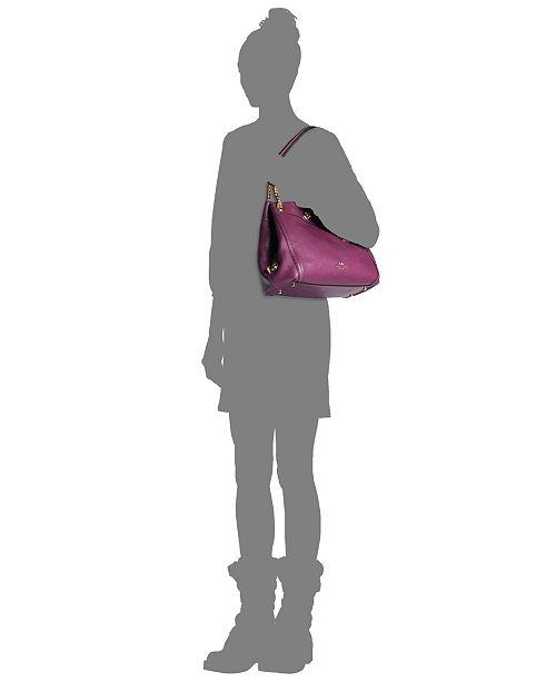 COACH Turnlock Edie Shoulder Bag in Pebble Leather - Handbags ... 2204aef68f77a