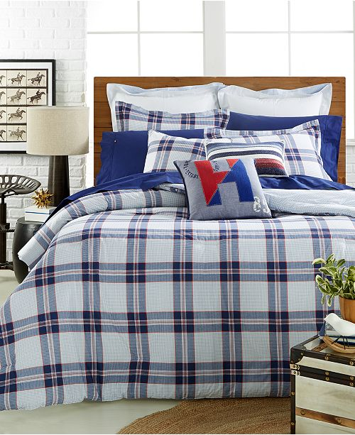 2543c9d6077f6 Tommy Hilfiger CLOSEOUT! Surf Plaid Bedding Collection   Reviews ...