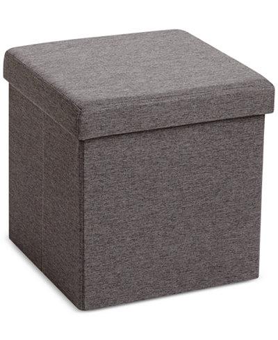 poppin storage box seat ottoman storage organization