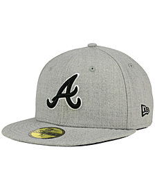 New Era Atlanta Braves Heather Black White 59FIFTY Fitted Cap