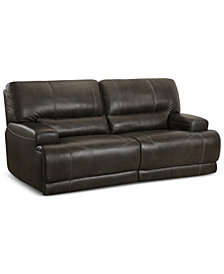 "Warrin 86"" 2-pc Leather Power Reclining Sofa"