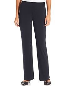 Petite Pull-On Straight-Leg Pants