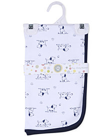 Little Me Baby Boys Puppy Toile Blanket