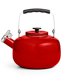 Martha Stewart Collection 2-Qt. Enamel on Steel Tea Kettle, Created for Macy's