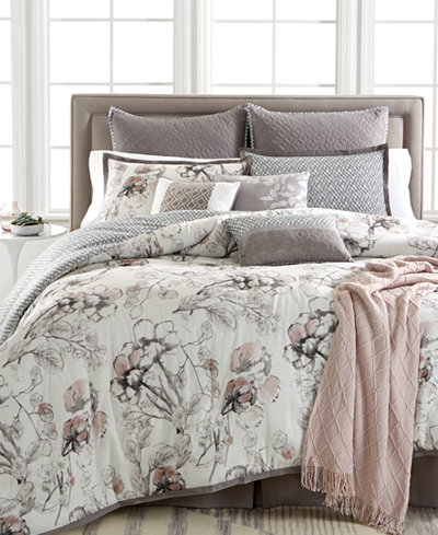 Kelly Ripa Home Pressed Floral 10-Pc. Reversible Comforter Sets