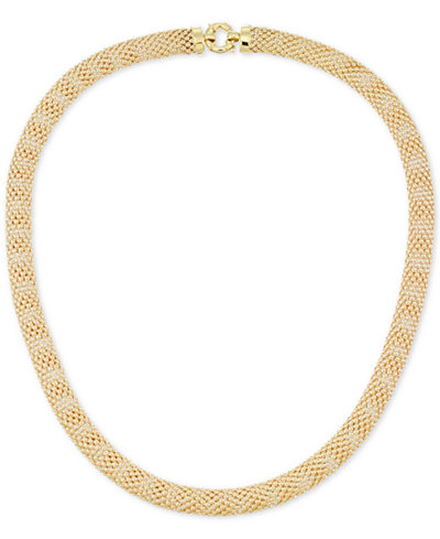 Textured Mesh Necklace in 14k Gold