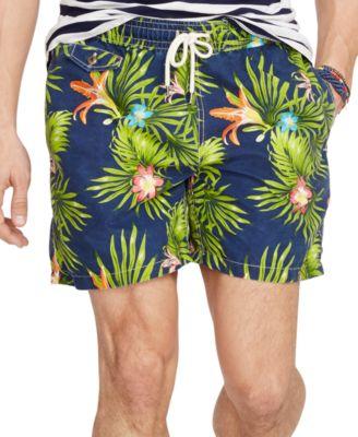 Polo Ralph Lauren. Men\u0027s Floral-Print Traveler Swim Shorts. 1 reviews. main  image; main image ...