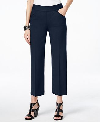INC International Concepts Cropped Wide-Leg Pants, Only at Macy's ...