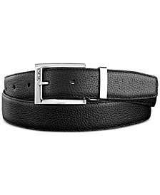Tumi Men's Pebbled Leather Reversible Belt