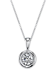 Energy Diamond Pendant Necklace (1/5 ct. t.w.) in 14k Gold, White Gold or Rose  Gold
