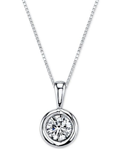 Sirena® Energy Diamond Pendant Necklace (1/5 ct. t.w.) in 14k Gold, White Gold or Rose Gold