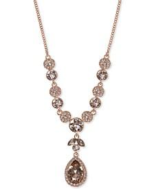 Givenchy Multi-Crystal Y-Neck Necklace