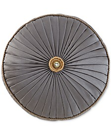 "CLOSEOUT! Waterford Walton 14"" Round Decorative Pillow"