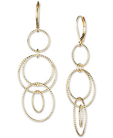 Anne Klein Open Circle Triple Drop Earrings