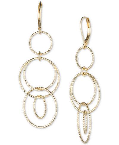 Anne Klein Open Circle Triple Drop Earrings