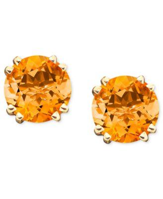 14k Gold Citrine Stud Earrings (3-1/2 ct. t.w.)