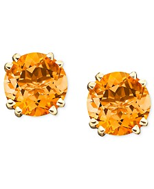 14k Gold Citrine Stud Earrings (3-1/2 ct. t.w.)