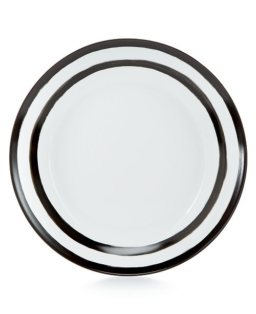 Martha Stewart Collection Dinnerware Collection Black Dinner Plate, Created for Macy's
